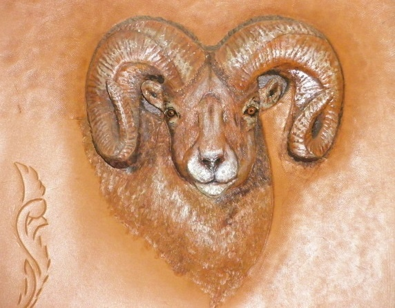 Leather relief ram