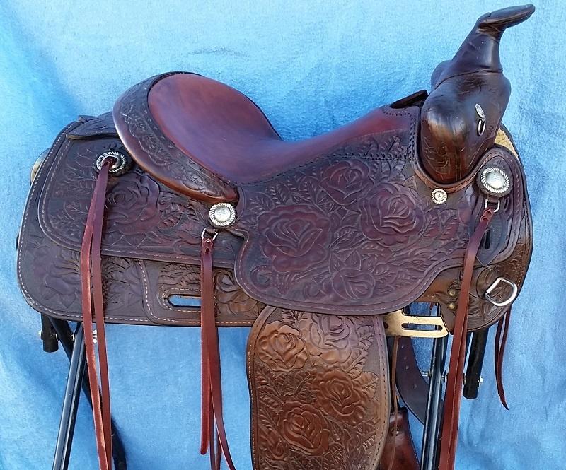 Restored rose pattern saddle