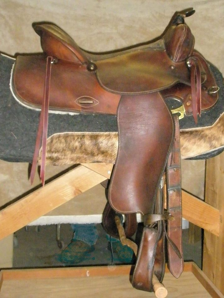 same saddle after restoration