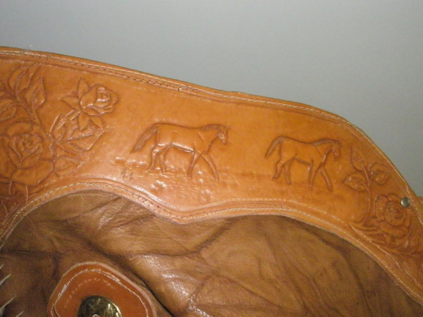 tooled waist band on chinks